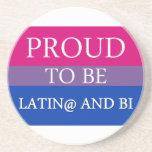 Orgulloso ser Latin@ y BI Posavasos Manualidades