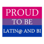 Orgulloso ser Latin@ y BI Tarjeta Postal