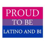 Orgulloso ser Latino y BI Tarjetas Postales
