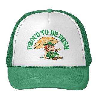 Orgulloso ser Leprechaun irlandés Gorros Bordados