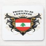 Orgulloso ser libanés alfombrilla de ratón