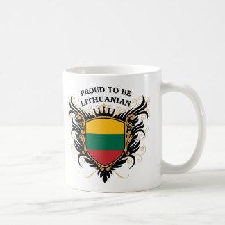 Orgulloso ser lituano tazas