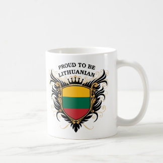 Orgulloso ser lituano taza básica blanca