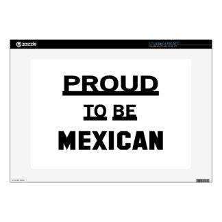 Orgulloso ser mexicano calcomanía para portátil
