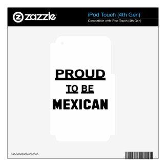 Orgulloso ser mexicano calcomanías para iPod touch 4G