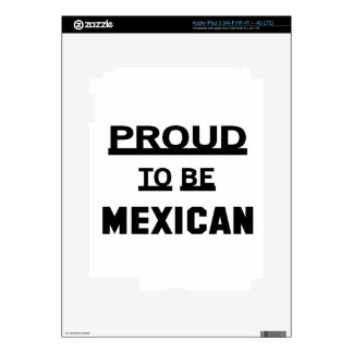 Orgulloso ser mexicano iPad 3 pegatinas skins