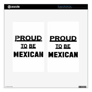 Orgulloso ser mexicano skin para kindle fire