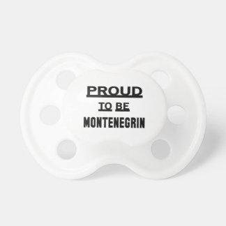 Orgulloso ser montenegrino chupetes de bebé