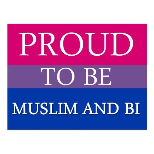 Orgulloso ser musulmán y BI Tarjetas Postales
