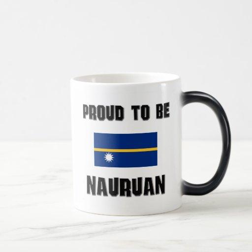 Orgulloso ser NAURUANO Taza
