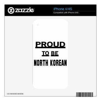 Orgulloso ser norcoreano iPhone 4S calcomanía