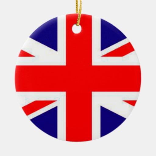 Orgulloso ser ornamento del navidad de la bandera adorno navideño redondo de cerámica