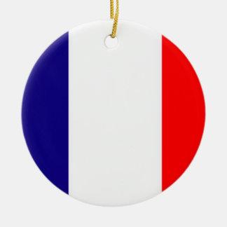 Orgulloso ser ornamento francés del navidad de la adorno navideño redondo de cerámica
