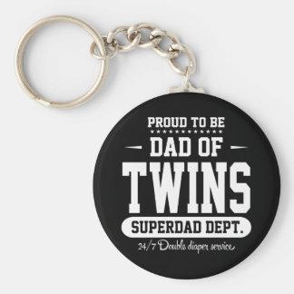 Orgulloso ser papá del departamento de Superdad de Llavero Redondo Tipo Pin