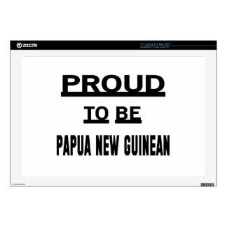Orgulloso ser Papua nuevo guineano Calcomanía Para Portátil