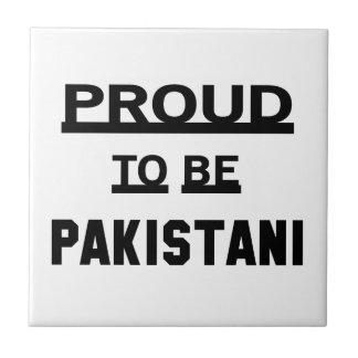 Orgulloso ser paquistaní azulejo cuadrado pequeño