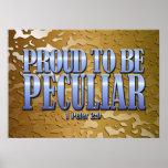 Orgulloso ser peculiar impresiones