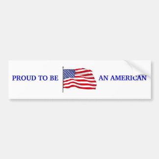 Orgulloso ser pegatina para el parachoques america pegatina para auto