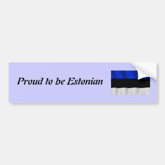 Orgulloso ser pegatina para el parachoques estonia pegatina para auto