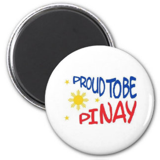 Orgulloso ser Pinay Imán Redondo 5 Cm
