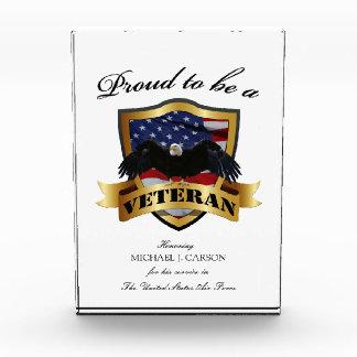 Orgulloso ser placas de un veterano