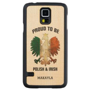 Orgulloso ser polaco e irlandés funda de galaxy s5 slim arce