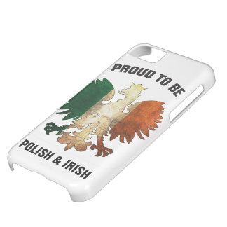 Orgulloso ser polaco e irlandés funda para iPhone 5C