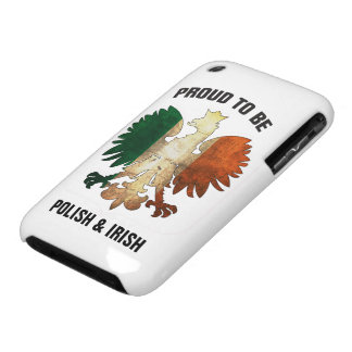 Orgulloso ser polaco e irlandés iPhone 3 Case-Mate cárcasas