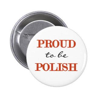 Orgulloso ser polaco pin redondo de 2 pulgadas