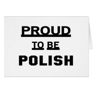 Orgulloso ser polaco tarjeta de felicitación