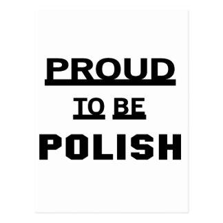 Orgulloso ser polaco tarjeta postal