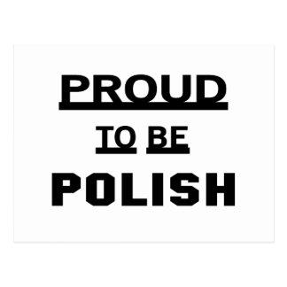 Orgulloso ser polaco tarjetas postales