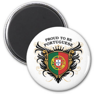 Orgulloso ser portugués imán redondo 5 cm