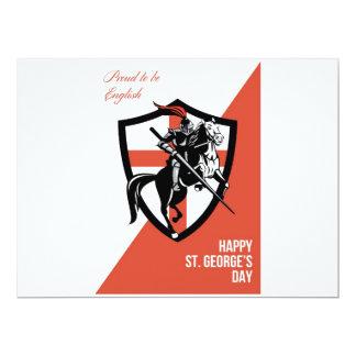 Orgulloso ser poste retro del día feliz inglés de invitación 16,5 x 22,2 cm