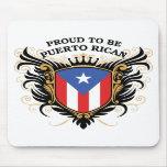 Orgulloso ser puertorriqueño alfombrilla de ratón