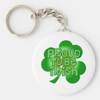 Orgulloso ser regalos irlandeses llavero redondo tipo pin