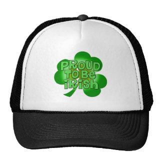 Orgulloso ser ropa irlandesa gorras de camionero