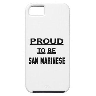 Orgulloso ser San Marinese iPhone 5 Fundas