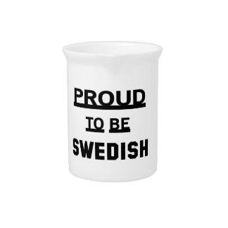 Orgulloso ser sueco jarra de beber
