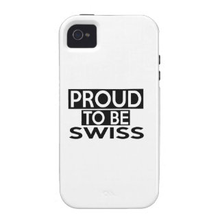 ORGULLOSO SER SUIZO VIBE iPhone 4 CARCASA