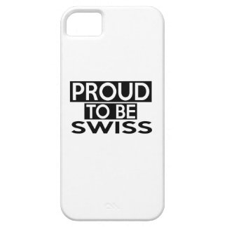 ORGULLOSO SER SUIZO iPhone 5 CARCASAS