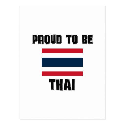Orgulloso ser TAILANDÉS Postal