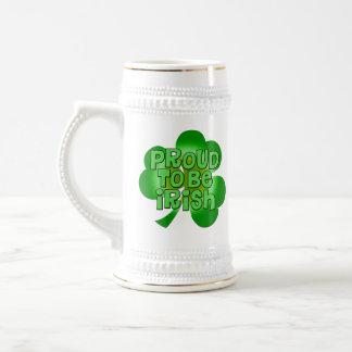Orgulloso ser taza de Stein del irlandés
