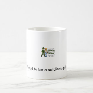 Orgulloso ser taza del chica de un soldado