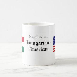 Orgulloso ser… taza Húngaro-Americana