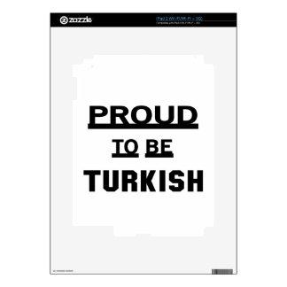 Orgulloso ser turco iPad 2 calcomanías