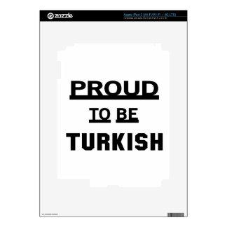 Orgulloso ser turco iPad 3 pegatina skin
