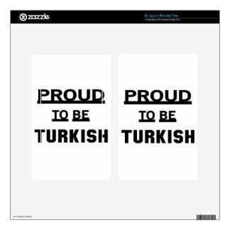 Orgulloso ser turco skins para kindle fire