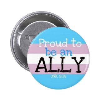 """""""Orgulloso ser un aliado"""" - cambie de sexo el botó Pins"""