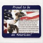 ¡Orgulloso ser un americano! Alfombrilla De Raton